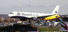 Monarch A321 G-OZBI (ray_finkle) Tags: atc airport birmingham aircraft aviation air monarch airbus airports airlines birminghamuk a321 bhx egbb