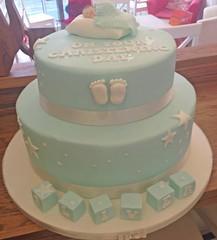 Christening Cake Close Up
