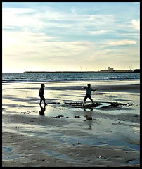 Stopped Motion (1) (ronramstew) Tags: winter light playing beach boys silhouette children sand play agadir morocco shore maroc 1001nights marruecos marokko 2012 lemaroc platinumheartawards 2010s 1001nightsmagiccity mygearandme mygearandmepremium