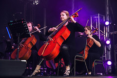 Hacienda Classical @ Made Birmingham 11 (preynolds) Tags: concert gig livemusic dof canon5dmarkii mark2 raw tamronsp70200f28divcusd tamron70200 cello orchestra classical dance electronic music musician stage stagelights birmingham digbeth counteractmagazine noflash mb16