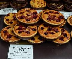 Cherry Bakewell Tarts (pjpink) Tags: portobello market portobellomarket food nottinghill london england britain uk may 2016 spring pjpink