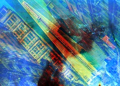 (mikehip) Tags: new york city manhattan 35mm holga color film kodak catchy colors usa nyc buildings filmsoup sky blue photography