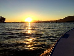 English Bay Sunset (Conor[IRL]) Tags: ferry falsecreekferries vancouver kits kitsilano sunset englishbay boats sea water