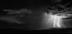 Breaking Hills (NicLeister) Tags: arizona alpha a65 sony southwest storm strike sonoran sky summer stormscape weather bw clouds desert landscape lightning monsoon mountains night nature nightscape outdoors thunderstorm