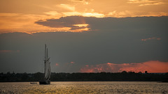 Hudson River Sunset (dansshots) Tags: sunset endoftheday hudsonriver sky bigsky sailboat dansshots nikond3 nikon sunsetcolors
