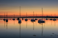 Summers Evening (Explore 16-8-2016) (Sunset Snapper) Tags: summersevening sunset langstoneharbour haylingisland hampshire southcoast uk calm still tranquil peaceful serene reflections yachts boats moorings afterglow filter lee nd grad nikon d810 2470mm hightide seascape august 2016 sunsetsnapper