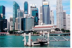 Singapore, Skyline from Promenade by Theaters by the Bay from m. muraskin-singapore (m. muraskin) Tags: singapore skyline promenade marinabay