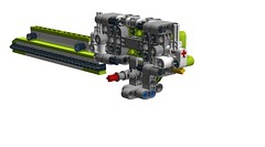 Sickle Bar Mower for 42054 (RS 1990) Tags: lego technic 42054 claas xerion implement attachment moc ldd digitaldesigner sickle mower grasscutter wip