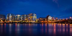 chelsea blue hour (mickael_giraud) Tags: d7000 bluehour london thames battersea bridge