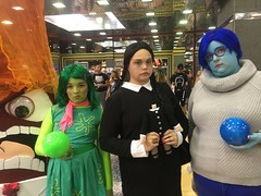 inside out (timp37) Tags: inside out disney disgust sadness wednesday addams chicago illinois august 2016 wizard world comic con conlife cosplay nat nathalie