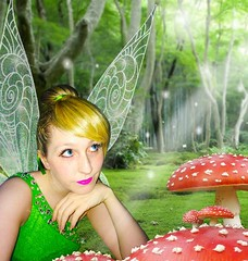 (Elysia in Wonderland) Tags: tinkerbell tinker bell fairy pixie disney cosplay costume princessing marvellous events princess photoshop edit thinking mushroom toadstool wings