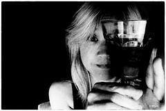 Kymdot.../Shiraz-Pinotage (Kym.) Tags: 1kymaday 501111 806511 bw chillin confusion delusion kym lettinggo me photobooth photoboothfun selfportrait shirazpinotage wine wineco crazy crush illusion kymdotwithoutthedot theotherside