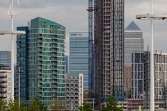Capital Towers (Gary Kinsman) Tags: london eastlondon queenelizabetholympicpark olympicpark e15 canoneos5dmarkii canon5dmkii stratford architecture tower highrise 2016 canon70300mm telephoto zoom compression construction crane apartments wealth inequality canarywharf onecanadasquare capitaltowers skyviewtower georgehudsontower