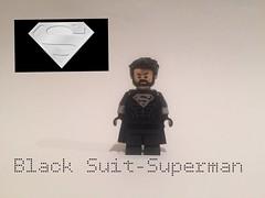 Black Suit-Superman (alansb911) Tags: custom alansb911 superman suit black lego legoblacksuitsupermanalansb911