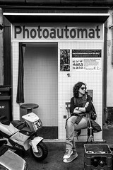Photoautomat (simone_blu) Tags: self portrait photoautomat berlin berlino black white bw canon 2016