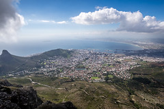 Looking Down To Cape Town (Neal_T) Tags: 12mm africa beach coast fuji fujifilm landscape samyang southafrica ultrawideangle wideangle xt10 tablemountain capetown westerncape za