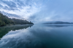 Calm water (Sebo23) Tags: mindelsee reflections reflektionen calm ruhig longtimeexposure langzeitbelichtung spie nebel fog canon6d sigma 1224ii