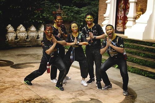 Universitarios en Wat Pha Lat