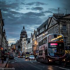 twilight on bank street (aprilpix) Tags: edinburgh streetscene scotland architecture twilight aprilpix cityscape