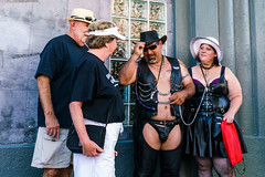 Welcome! No ma'am, you're definitely NOT in Kansas anymore! (MarinSD) Tags: red folsom folsomstreet kink leather sanfrancisco california streetphotography street streetfair bondage sm bdsm