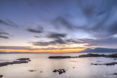 HDR Sunset (t.valilas) Tags: greece evia euboea euboia neaartaki newartaki artaki sea sky sunset rocks clouds longexposure landscape outdoor twilight hdr