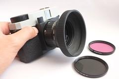 Debonair with screw-in lens hood (art y fotos) Tags: 120 mediumformat filters 6x45 toycameras debonair fpp lenshoods stepupring filmphotographypodcast filmphotographyproject plasticfilmtastic120 fppdebonair