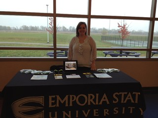 Amy Jo Troyer, Kansas City Admissions Counselor, at Spring Hill High School on 11.5.12.