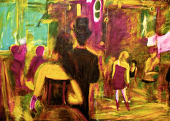 bigparty (davedehetre) Tags: city party usa color art hat night painting costume lawrence artwork event kansas gras mardi kcmo mdm krewe