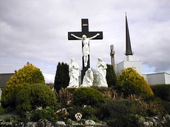 Ireland.- Knock, County Galway in Ireland. (mrvisk) Tags: old irish history memorial cross jesus rc gospel crucifixion