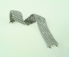 18K White Gold Diamond Mesh Bracelet (alexandcompanyjewelers) Tags: wedding band 18k citrine whitegold goldnecklace