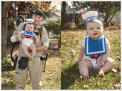 Stay Puft and Dad. (explored 11/11/12) (stevenbley) Tags: man halloween nj marshmallow sailor ghostbusters stay staypuft puft staypuftmarshmallowman marshmallowman