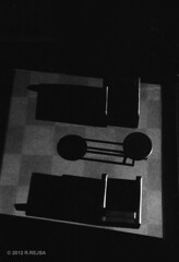(rjbuzzclick) Tags: shadow furniture minneapolis ilford fp4 jupiter8 guthrietheater zorki4 ilfosol3114
