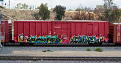 Scupe, June (TheHarshTruthOfTheCameraEye) Tags: california june train graffiti southern network freight fs dtt juner benching freighttraingraffiti scupe