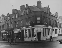 Tor923, Jesmond Road and Shortridge Terrace, Newcastle upon Tyne (Newcastle Libraries) Tags: england people newcastle 60s suburban north social tyne historic wear east 70s 1960s 1970s seventies sixties laszlo torday surburbs