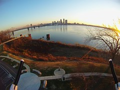 Rookie @ aerial photography. Reminds me of my first foray into Flickr. (dancriss) Tags: skyline louisville clarksville gopro 111612