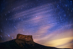 Polaris (EXPLORED #1) (Romain Matte Photography) Tags: longexposure nightphotography blue mountain france mountains alps colors clouds montagne way french long exposure raw nightshot trails mountaineering milky mont voie francais francophone milkyway aiguille trieves frenchphotographer voielactee lactee romainmattei