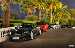 Summernight line-up! (Willem Rodenburg) Tags: trees red summer black colour tree beautiful by bar night photoshop silver grey spider am nice nikon italia nightshot martin top buddha wheels ferrari drop casino montecarlo monaco palm special palmtrees f palmtree modified nightlife 1855 lovely rims supercar v8 aston willem 2012 volante f430 supercars combo roadster 430 db9 hamann bespoke tuned in nurburgring argento virage 458 d90 cs6 rodenburg vinaccia supercombo ubercombo