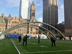 100th anniversary CFL 2012, Toronto (Mr.  Mark) Tags: city toronto canada calgary field sport architecture photo football downtown cityhall anniversary stock 100 argonauts cfl nathanphillipssquare stampeders markboucher