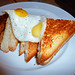 Iberico ham and manchego toastie, with egg du jour - quail. The glory of grilled cheese at Keong Saik Snacks!