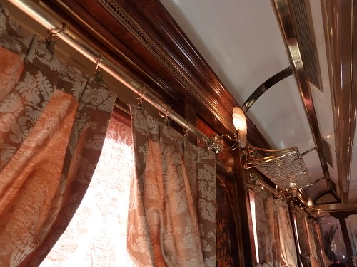AL Andalus - luxury train in Spain, décor detail
