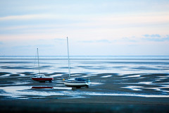 Beached (juliereynoldsphotography) Tags: sunset beach boats wirral meols juliereynolds