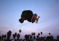 venice freefall (JKG II) Tags: life california venice sky sun motion beach beauty kids concrete high amazing cool sand poetry paradise skateboarding action path awesome wheels line carve skate thrash decks lostangeles grind stunts
