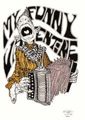 Acordeon (Luciano Salles) Tags: paris france art frança illustrator prismacolor artista ilustrador myfunnyvalentine acordeon lucianosalles lucianosallesart