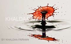 WaterDrop2012 (Khaldaa KWS) Tags: red white black water by photo nikon drop kuwait farhan 2012 d300s khaldaa