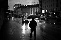 rain started to fall (gato-gato-gato) Tags: abend badenerstrasse feierabend leica leicam9 leicasummiluxm50mmf14asph m9 regen schweiz strasse street streetphotography zueri zuerich flickr gatogatogato rangefinder wwwgatogatogatoch black white schwarz weiss bw blanco negro monochrom monochrome blanc noir kreis4 aussersihl werd langstrasse hard kreischeib summiluxm 50mm f14 asph gatogatogatoch manualfocus manuellerfokus manualmode digital mensch person human pedestrian fussgnger fusgnger passant switzerland suisse svizzera     sviss zwitserland isvire