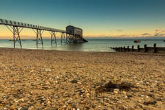 Selsey Lifeboat (GEHPhotos) Tags: uk sea seascape seaweed building beach water clouds westsussex places pebbles features selsey groynes cokinfilter lifeboatstation phototype canoneos60d tokinasd1116f28ifdx