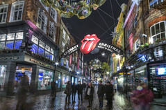 London: Carnaby Street (ovofrito) Tags: christmas street uk england people london colors night photoshop lights nikon stones decoration adobe carnaby hdr rolling photomatix d300s