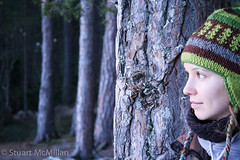 Staring.jpg (StuMcMillan) Tags: winter hat forest clare 2009 nethybridge