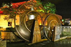 Water wheels, Lijiang, Yunnan, China (a UNESCO site) (cowboy6688) Tags: china yunnan lijiang waterwheel   unescosite  blinkagain