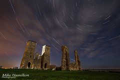 Reculver Stars (Mike-Hamilton Photography) Tags: uk longexposure nightphotography england monument night canon stars kent trails astrophotography 7d astronomy startrails reculver cloudmovement reculverchurch canon7d